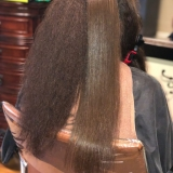 During Keratin Smoothing Treatment